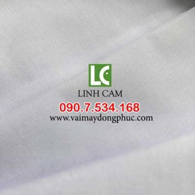 Vải kate silk trắng lạc đà may đồng phục áo sơ mi học sinh